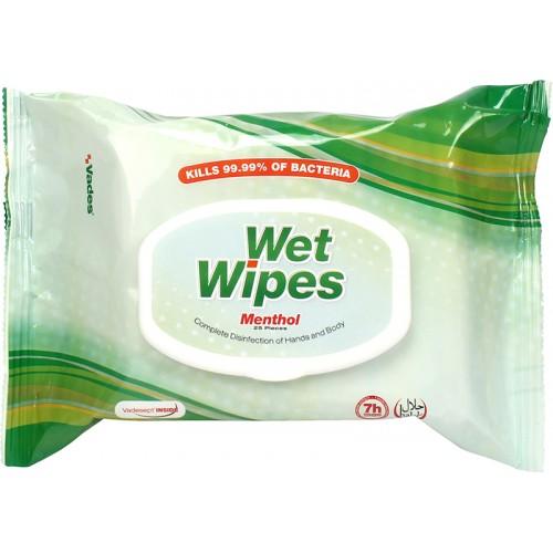 WET WIPES Menthol - Vlažne maramice za dezinfekciju i čišćenje ruku i tijela